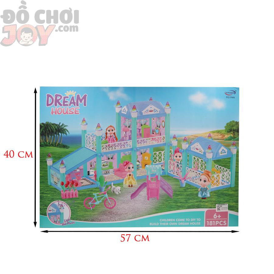 Đồ chơi DIY phát triển tư duy - Hộp Ráp Nhà Lầu 181 Miếng Dream House