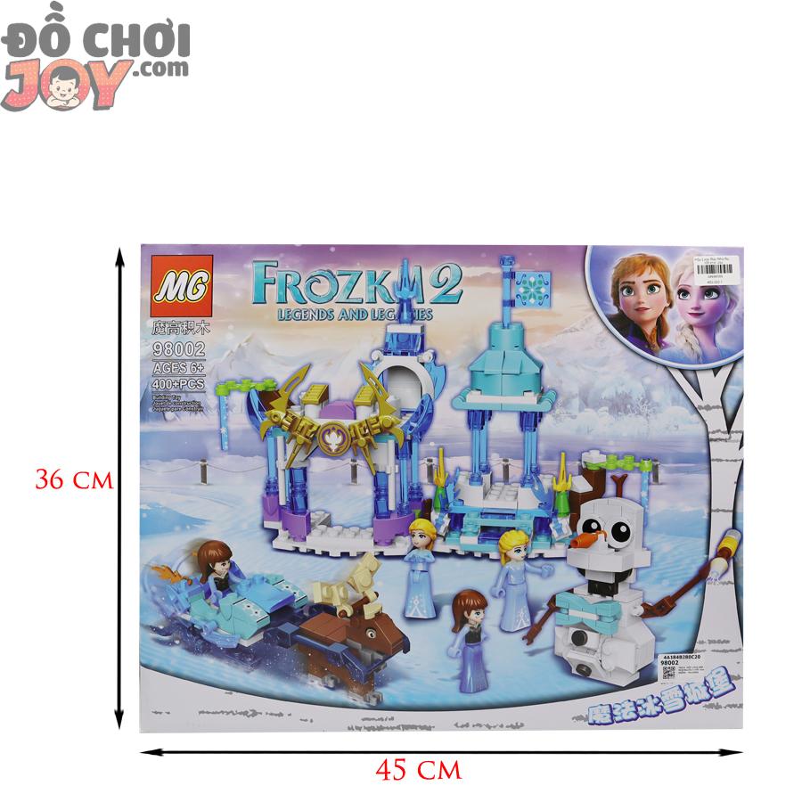 Bộ lắp ráp lego lâu đài công chúa tuyết 400 miếng cho bé gái