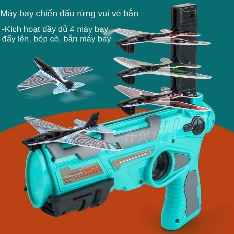 Đồ chơi súng bắn máy bay 4 tầng cho bé