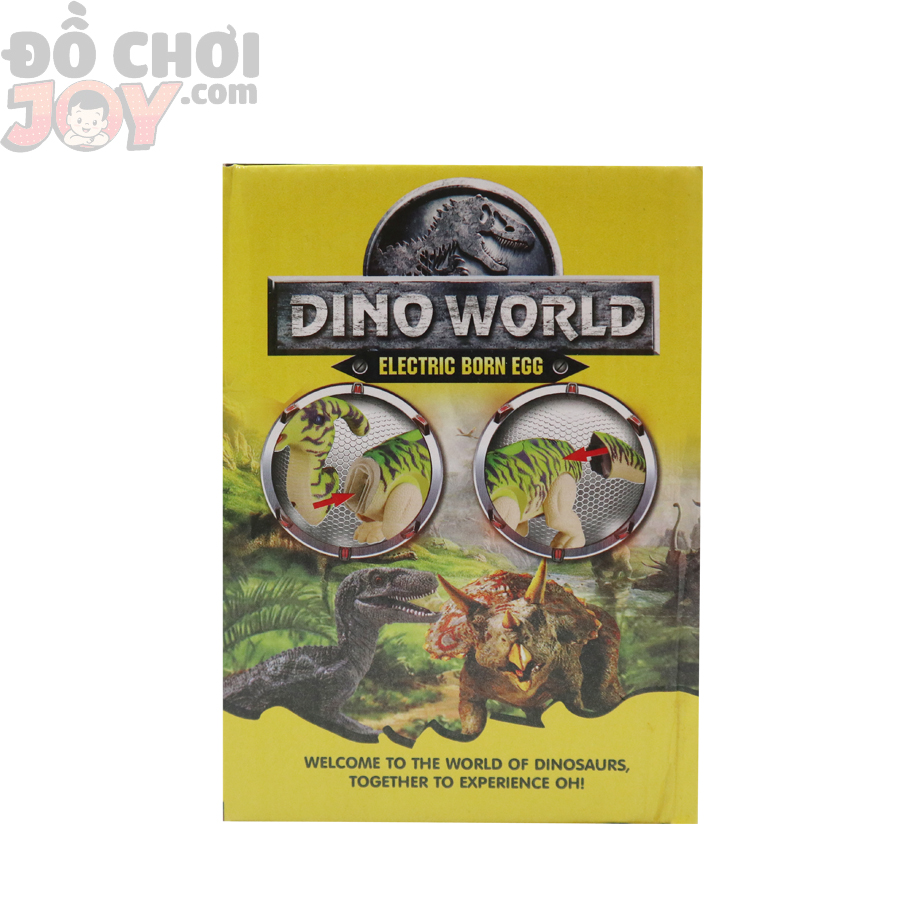 Mô hình khủng long đẻ trứng cực ngầu cho bé DINOWOLRD  - 1 sừng