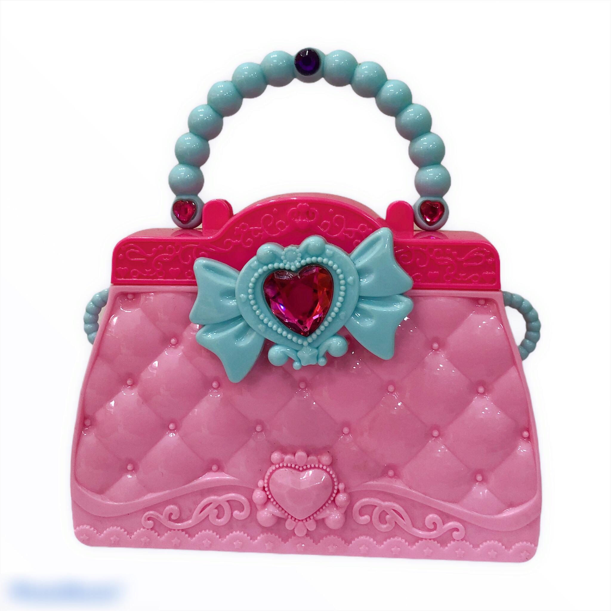 Túi xách nhựa trang điểm cho bé gái kèm phụ kiện