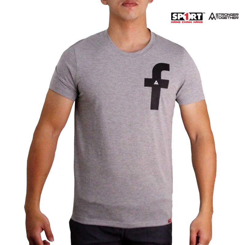 Áo T.shirt AM cotton FaceBook ghi xám – TSFB01