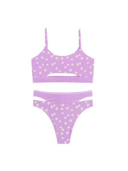 Violet Daisy Inside Out Bikini Set