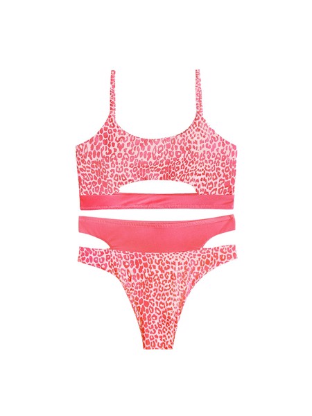 Set Bikini Pink Cheetah Inside Out