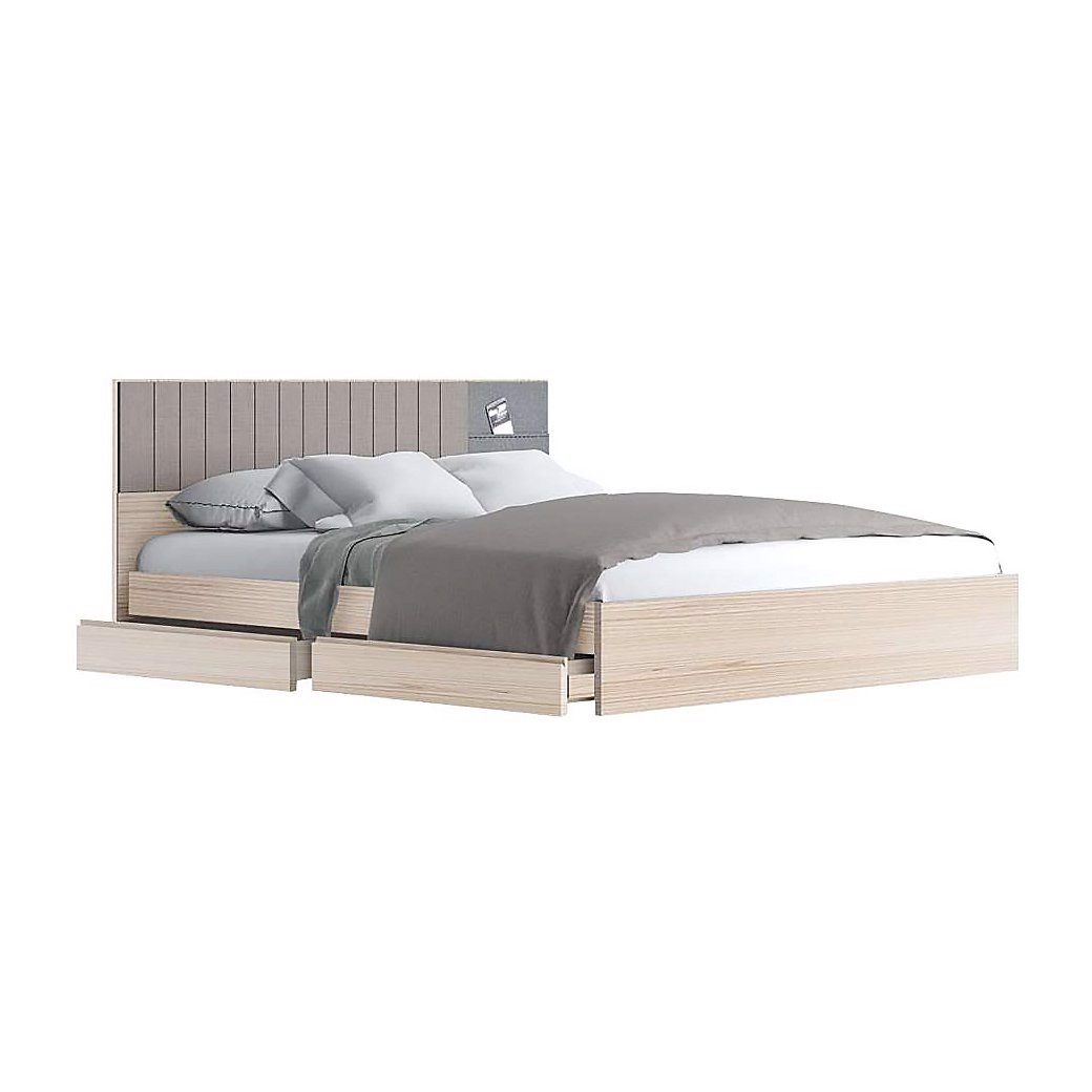 Giường - ECONI BED BW6'/D/CANYON/I-TWIST/FABRIC GRAY