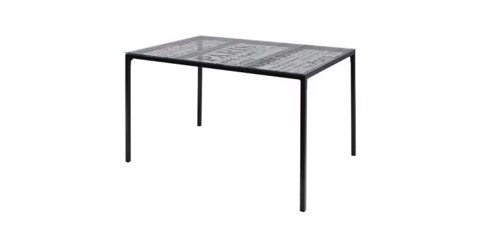 Bàn ăn - DINING TABLE FERGUSTO/BLACK/GLASS