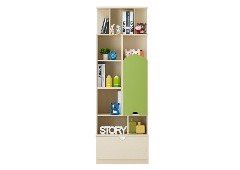 Kệ sách/CD - ARTY/BOOKCASE BS60/MAPLE/GREEN