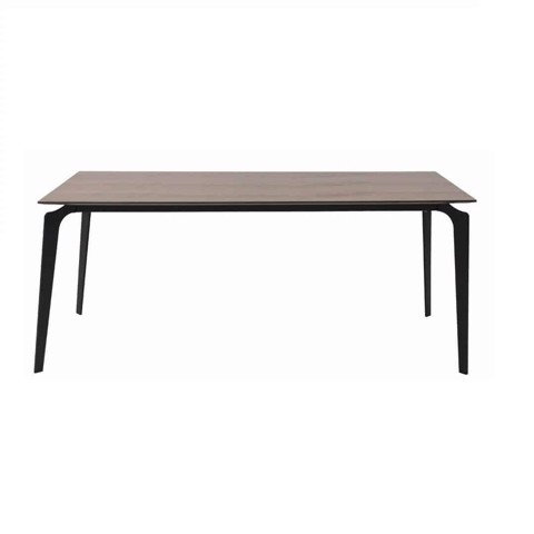 Bàn ăn - DINING TABLE/JAYRUN-A180/BLACK/VENEER WALNUT