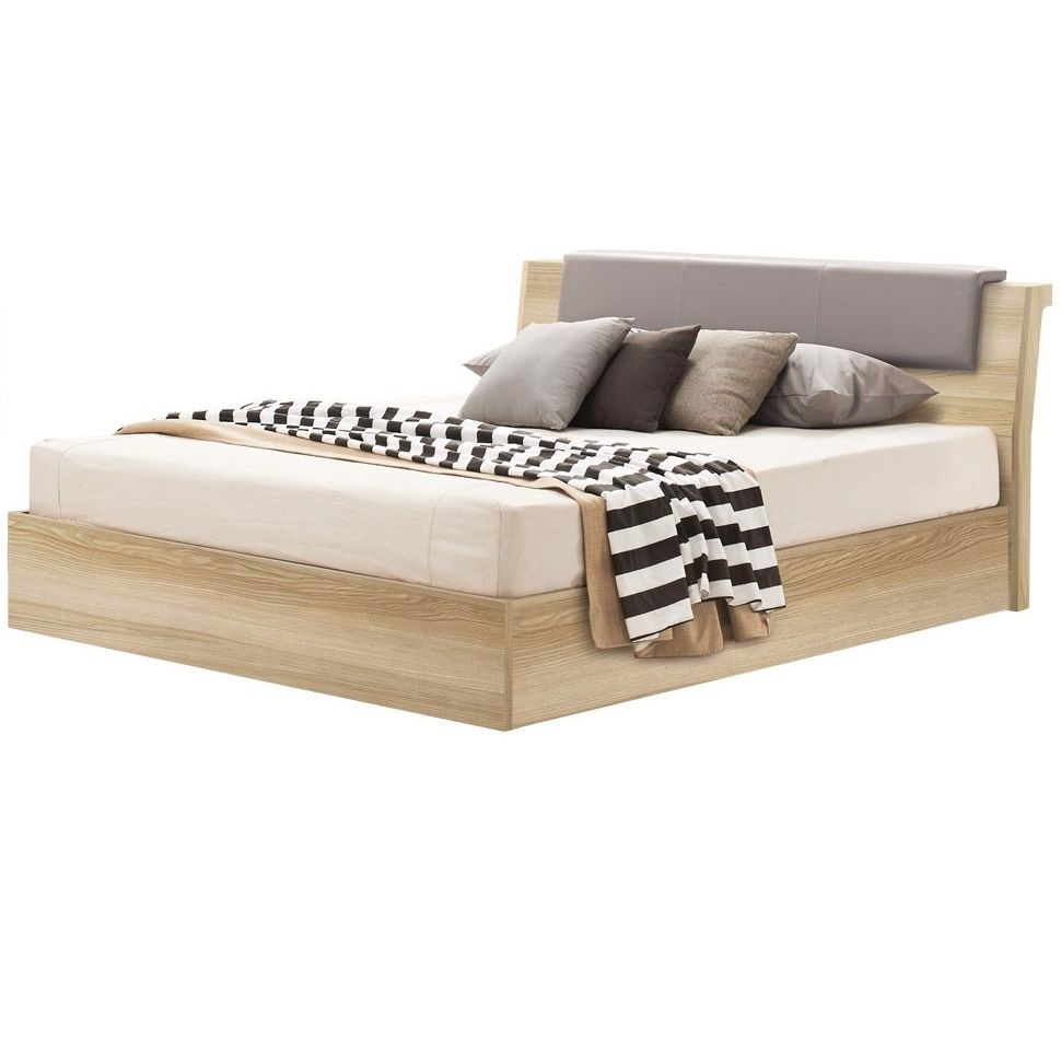 Giường - RETHO/ BED 5'/ BW5'/ LINDBERG OAK/ SL LIGHT GREY/ 19141650