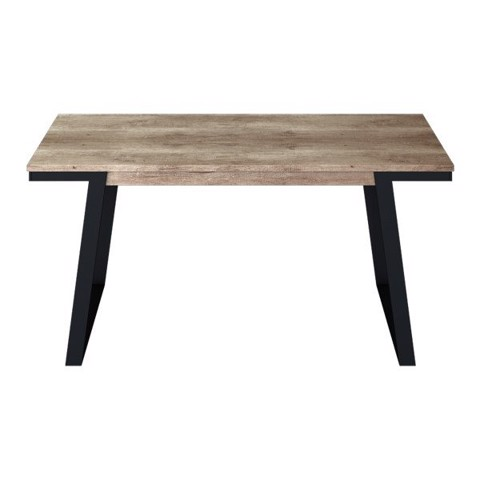 Bàn ăn - DINING TABLE/NISEY-A160#2/BLACK LEG/ZGV SMOKE TIM