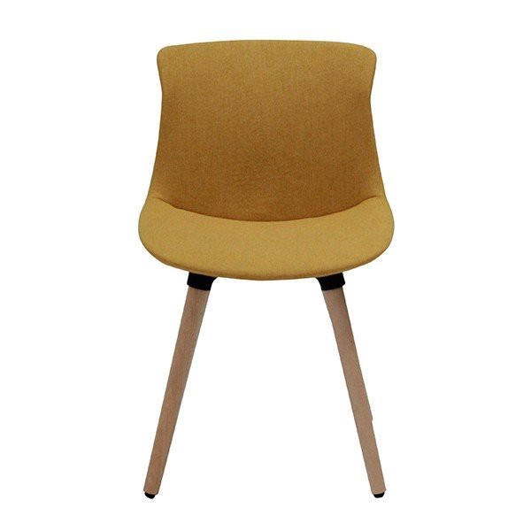 Ghế ăn - CHAIR/LOWWY-PLUS/BEECH/YELLOW FABRIC