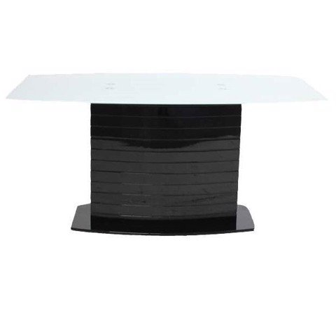 Bàn ăn - TABLE TALOST/ BLACK/ WHITE GLASS/ 19077301