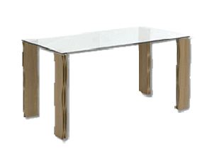 Bàn ăn - DINING TABLE/ H-CURVE/ VENEER/ WAL/ GLASS/ 19126068