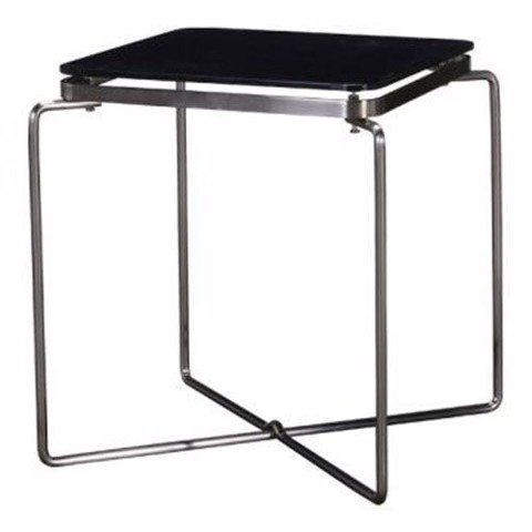 Bàn góc - END TABLE JOINER#CJ826B/CHROMIUM/BL GLAS