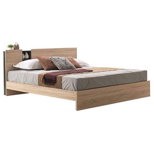 Giường - TYLER BED BW6'/SOLID OAK-DARK GRAY/SOLID