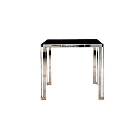 Bàn ăn - DINING TABLE CELINE80/BLACK GLASS