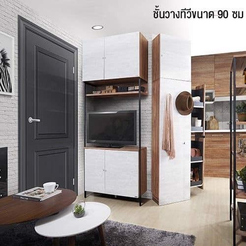 Tủ kệ TV - BRICKO-L/SIDEBOARD/TV90R/GREYTO-DARK GRAY AUTUMN BROWN