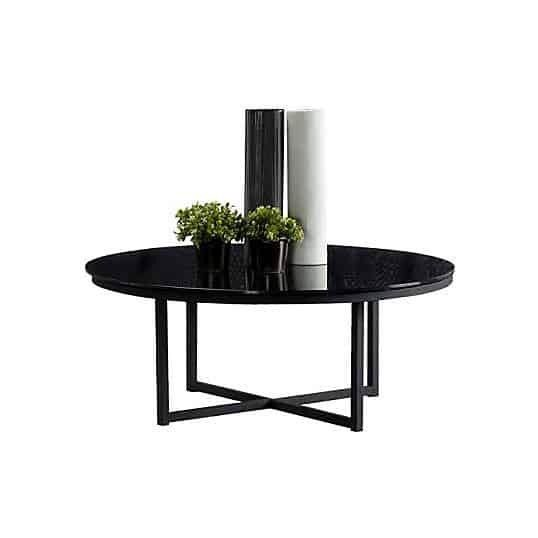 Bàn cà phê - COFFEE TABLE JERA-C80#CJ990B/ BL/ BL GLASS/ 19042637