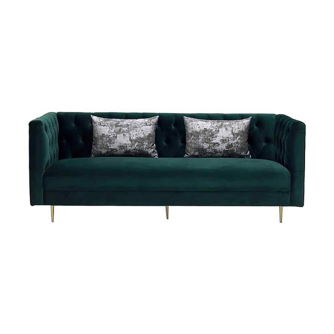 Ghế sofa - SOFA/ ADDRESS/ GOLD/ GREEN VELVET/ 3S/ 19141057
