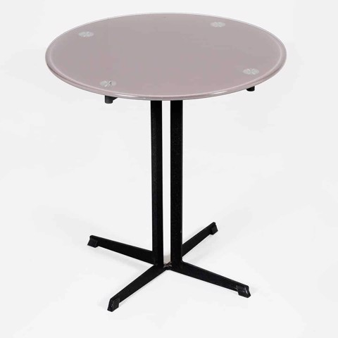 Bàn góc - END TABLE JAKE-D50/ BLACK/ DARK GRAY GLASS/ 19055871