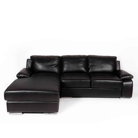 Ghế sofa - SOFA CORNER [L] LONDO/ LEATHER/ SL DARK BR/ 19084907