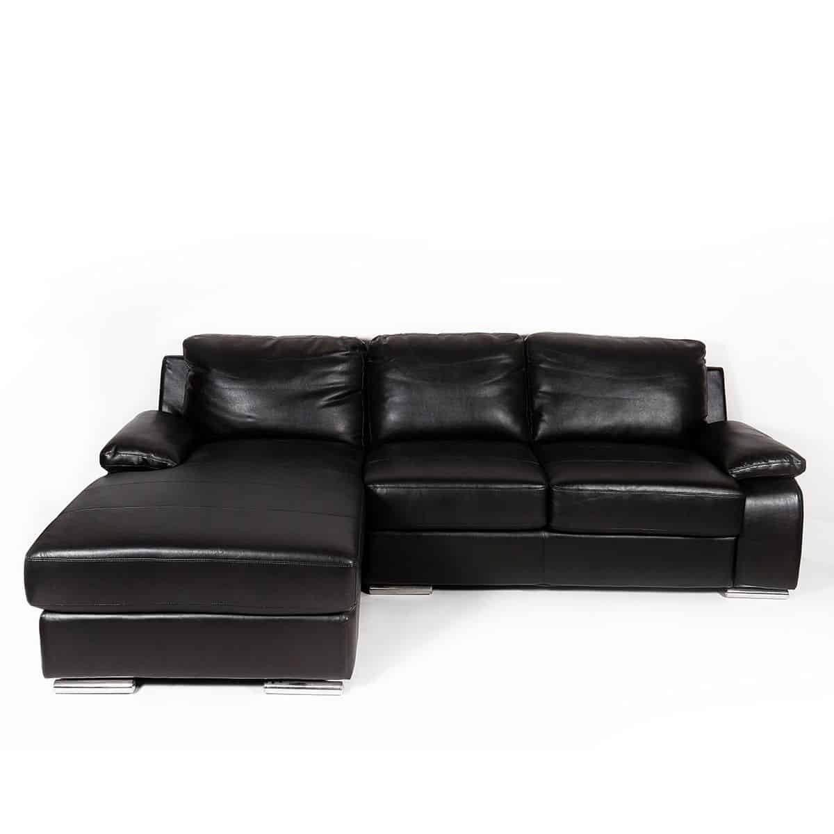 Ghế sofa - SOFA CORNER [L] LONDO/LEATHER/SL DARK BR