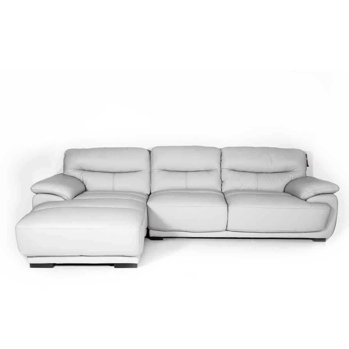 Ghế sofa - SOFA CORNER [L] LOWELL#2/LEATHER/SL LIGHT GRAY