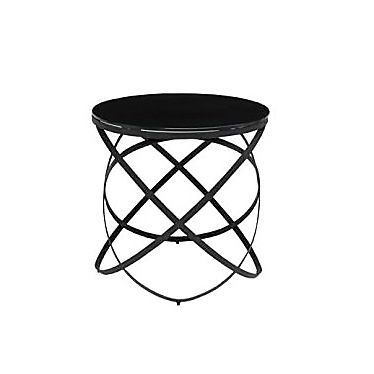 Bàn góc - SIDE TABLE JEWELL-D/BLACK/BLACK GLASS
