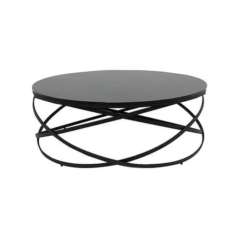 Bàn cà phê - COFFEE TABLE JEWELL-C/ BLACK/ BLACK GLASS/ 19090909