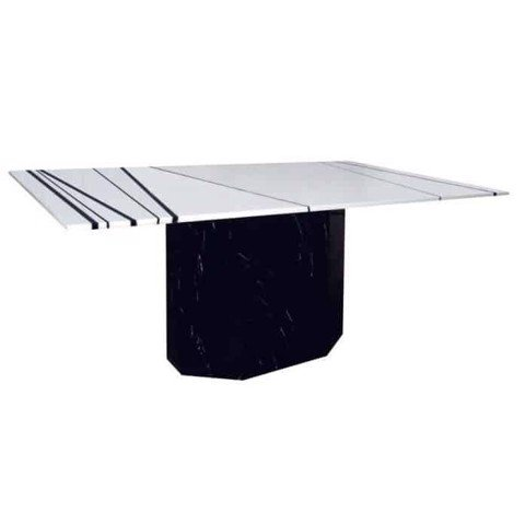 Bàn ăn - DINING TABLE/FECON-A160 STONE LEG#F BLACK/#F WHITE/BLACK