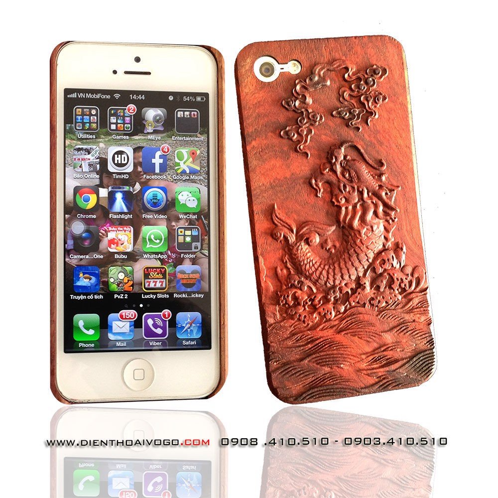 Case gỗ 3D Iphone5/ 5S