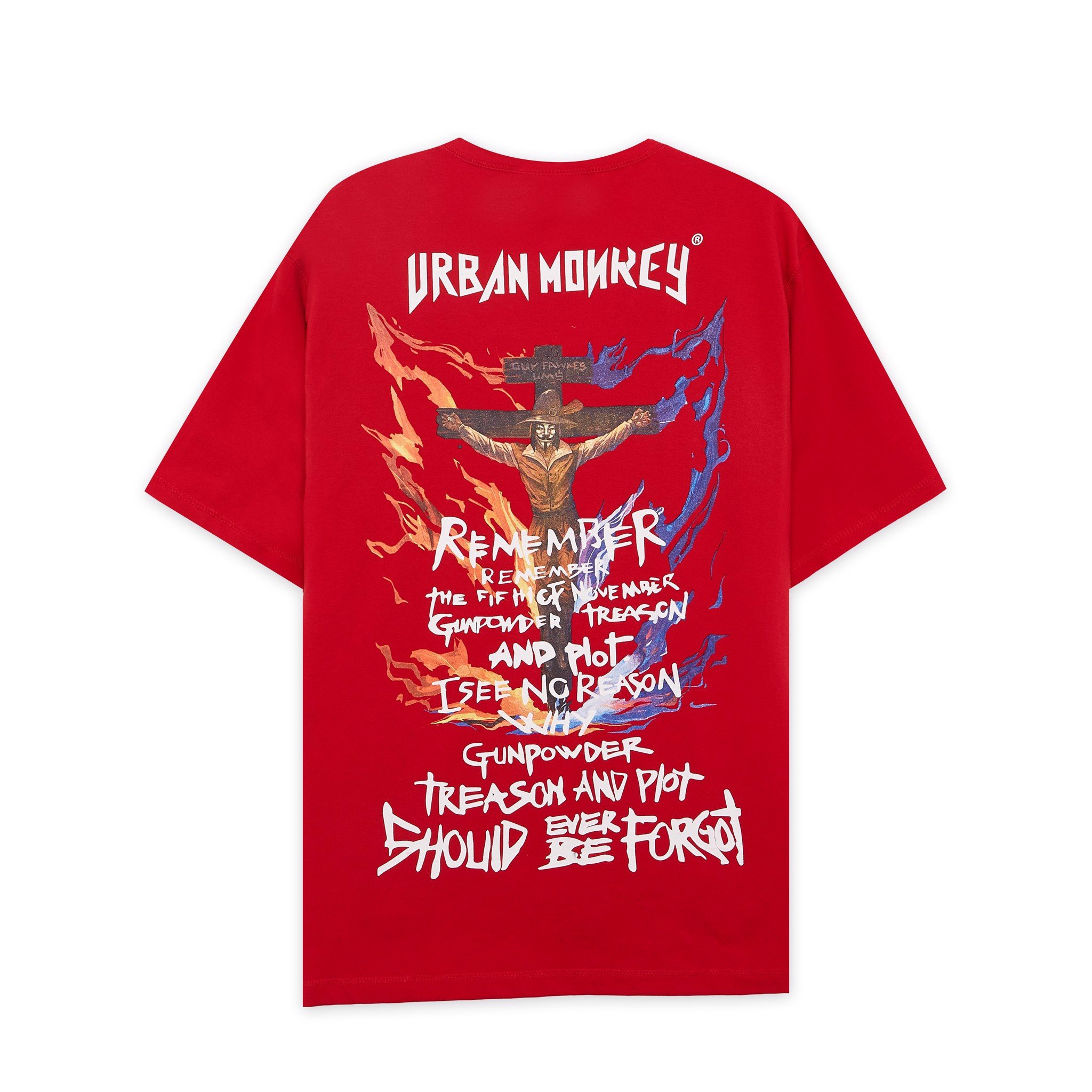 GUY FAWKES TEE RED < ĐỎ >