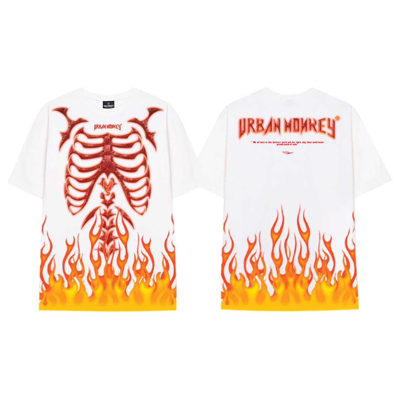 FLAME PUNK TEE WHITE