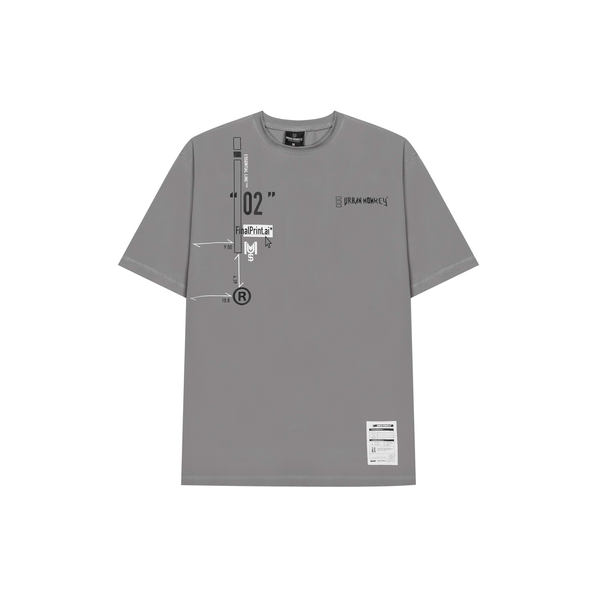 ESSENTIAL TEE GREY < XÁM >