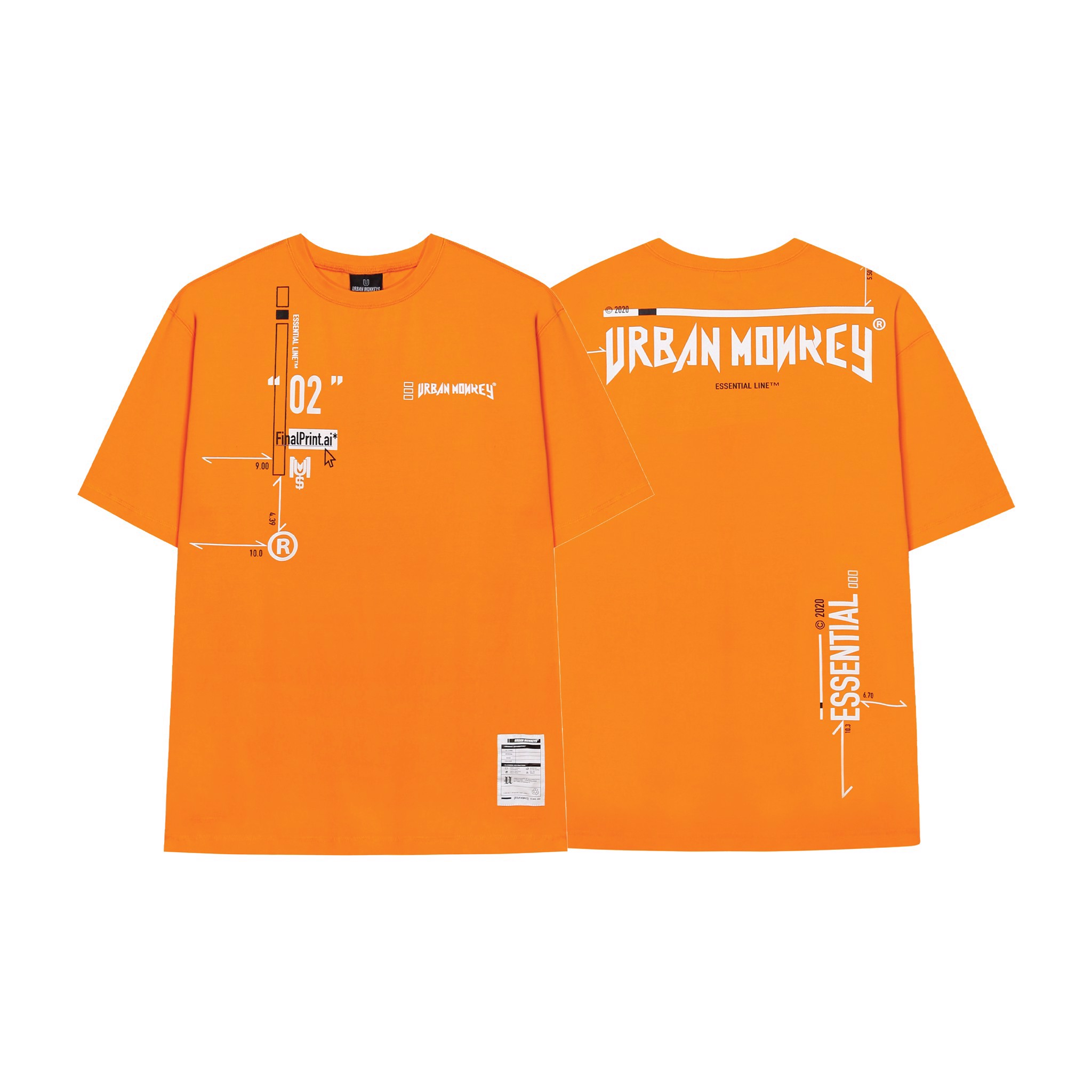 ESSENTIAL TEE ORANGE < CAM >
