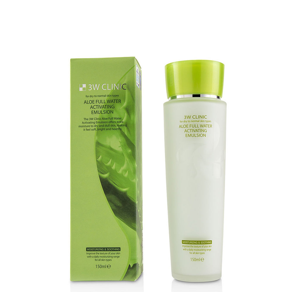 Sữa Dưỡng 3W CLINIC ALOE FULL WATER ACTIVATING EMULSION