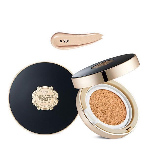Phấn Nước Lâu Trôi MIRACLE FINISH CC LONG-LASTING CUSHION SPF50+ PA+++ V201