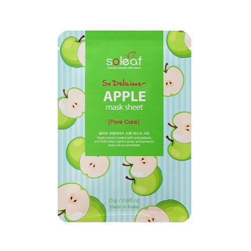 Mặt Nạ Giấy SOLEAF SO DELICIOUS APPLE MASK SHEET