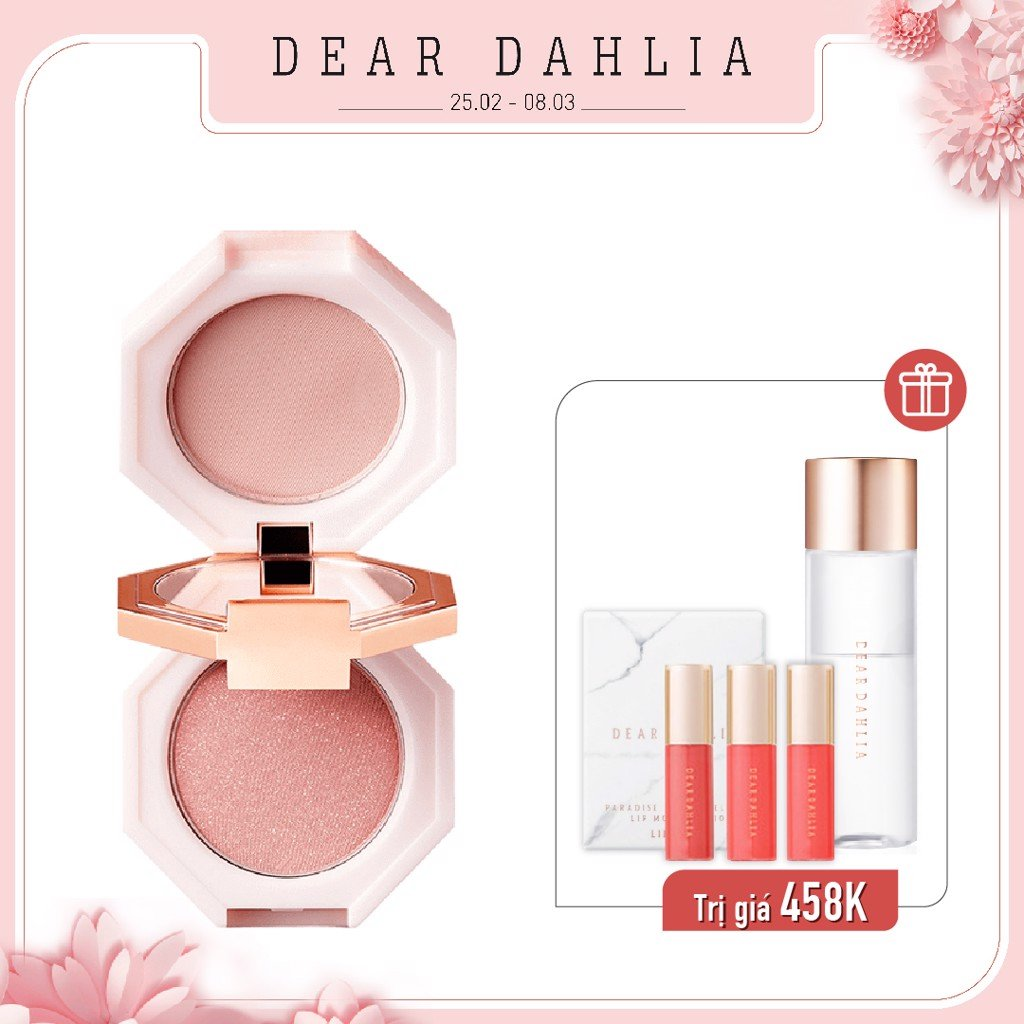 Combo  Má Hồng 2 IN 1 DEAR DAHLIA BLOOMING EDITION PARADISE DUAL PALETTE BLUSHER DUO - MIX #BLOSSOM PALACE