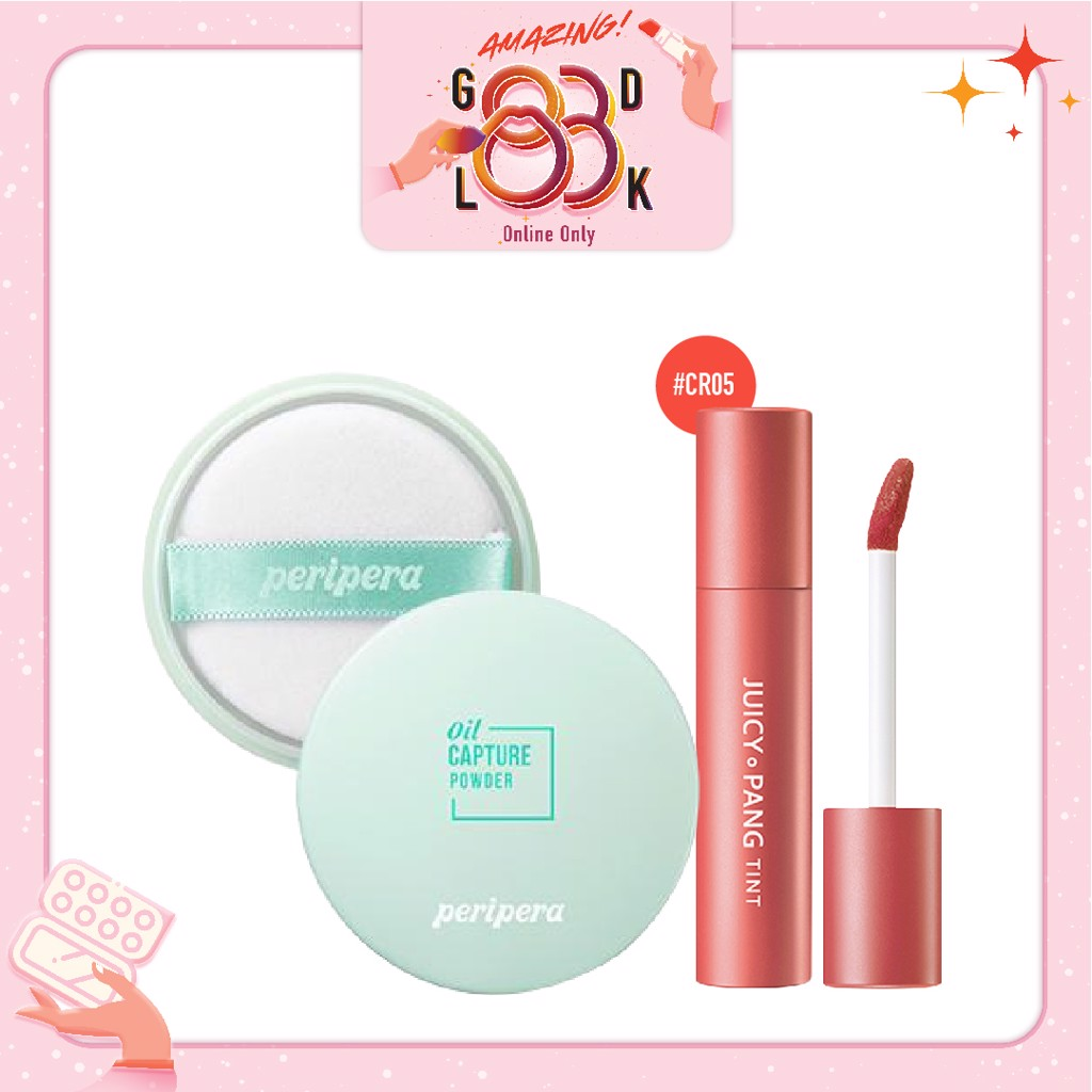 Combo Phấn Phủ & Son Nước Lì A'PIEU JUICY PANG TINT CR05_Grape Fruit