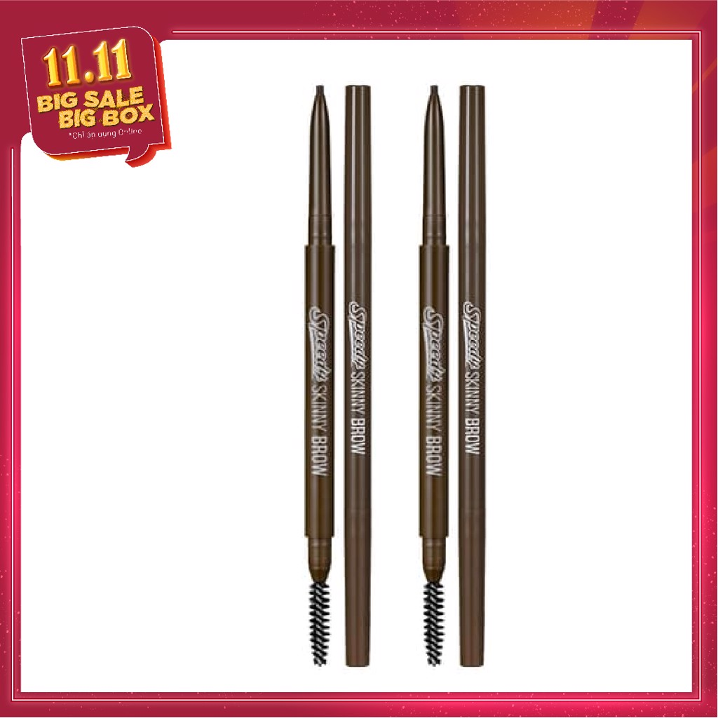 COMBO 03 Chì Chân Mày PERIPERA SPEEDY SKINNY BROW - 03 NATURAL BROWN