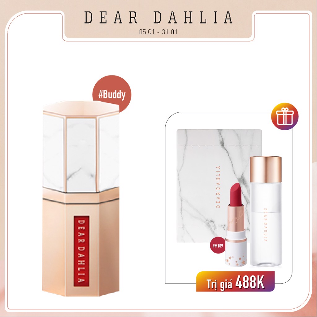 Combo Son Kem Hiệu Ứng Nhung Mịn DEAR DAHLIA PARADISE DREAM VELVET LIP MOUSSE Seduction (4pc)