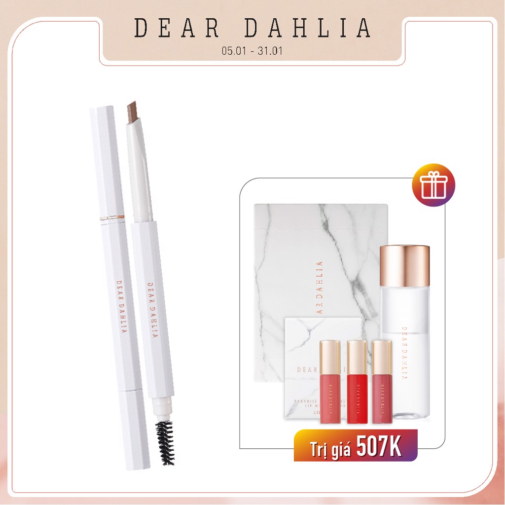 Combo Chì Vẽ Chân Mày DEAR DAHLIA PERFECT BROW LONGWEAR SCULPTING PENCIL (DUTCH BROWN) 0.35g