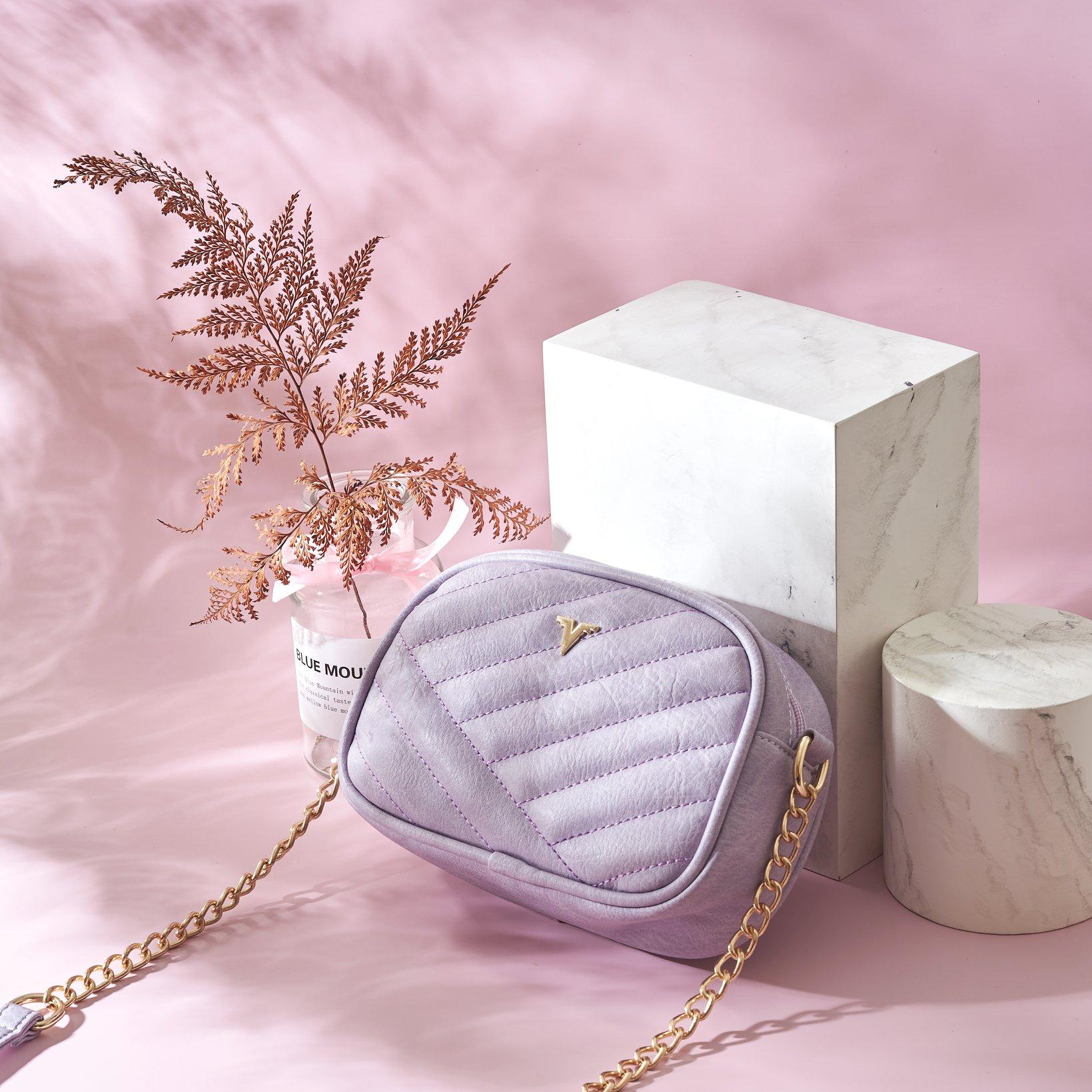 Túi xách thời trang Verchini thêu phối xích