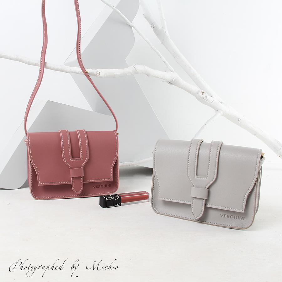Túi xách thời trang Verchini phối nịt xẽ rãnh