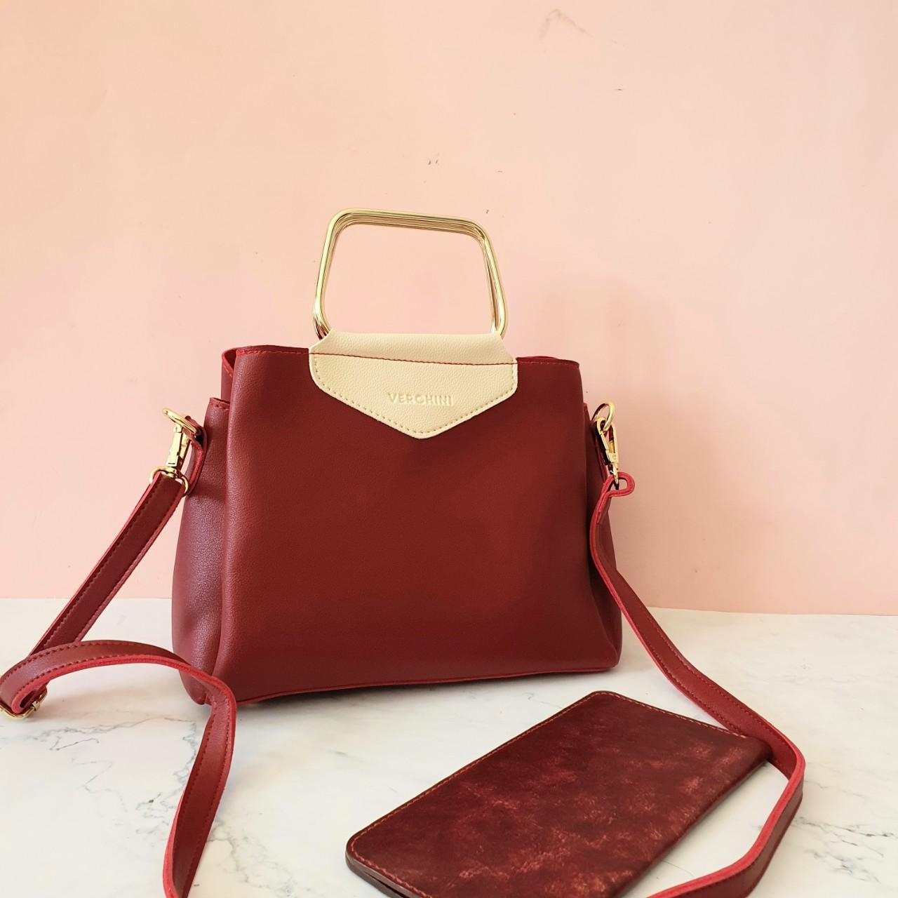 Túi xách thời trang Verchini phối quai hình thang