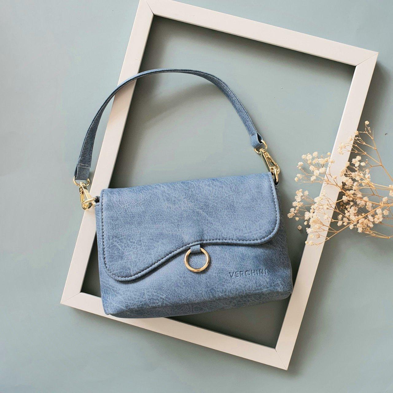 Túi xách thời trang Verchini nắp lượn phối khoen