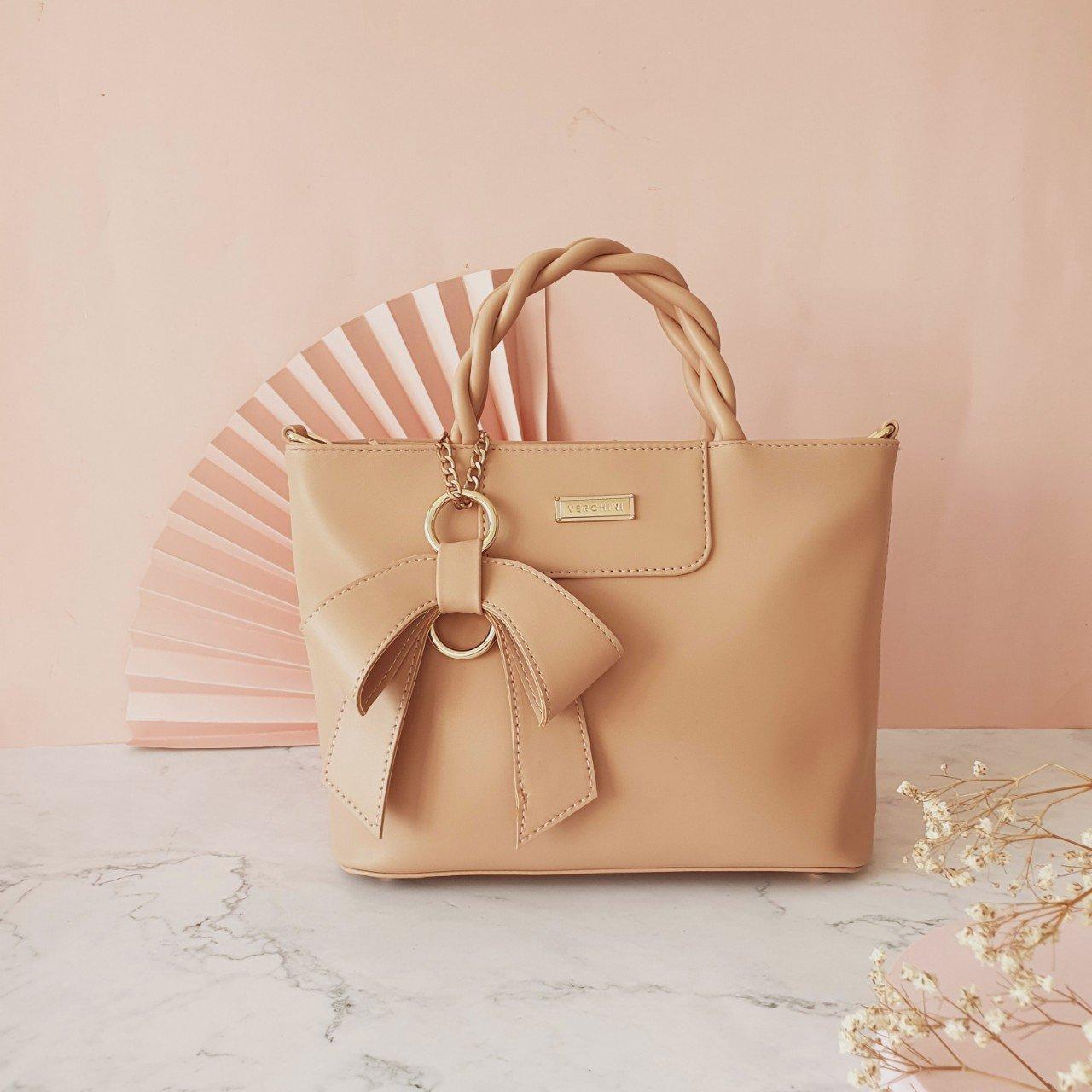 Túi xách thời trang Verchini quai bính phối nơ