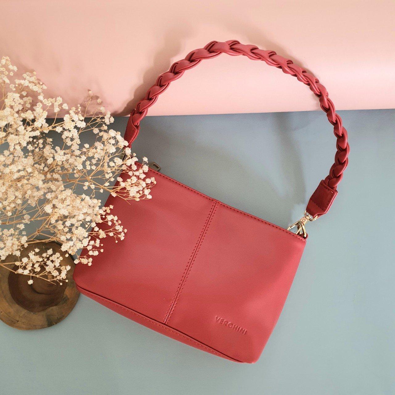 Túi xách thời trang Verchini đường chỉ phối quai bính