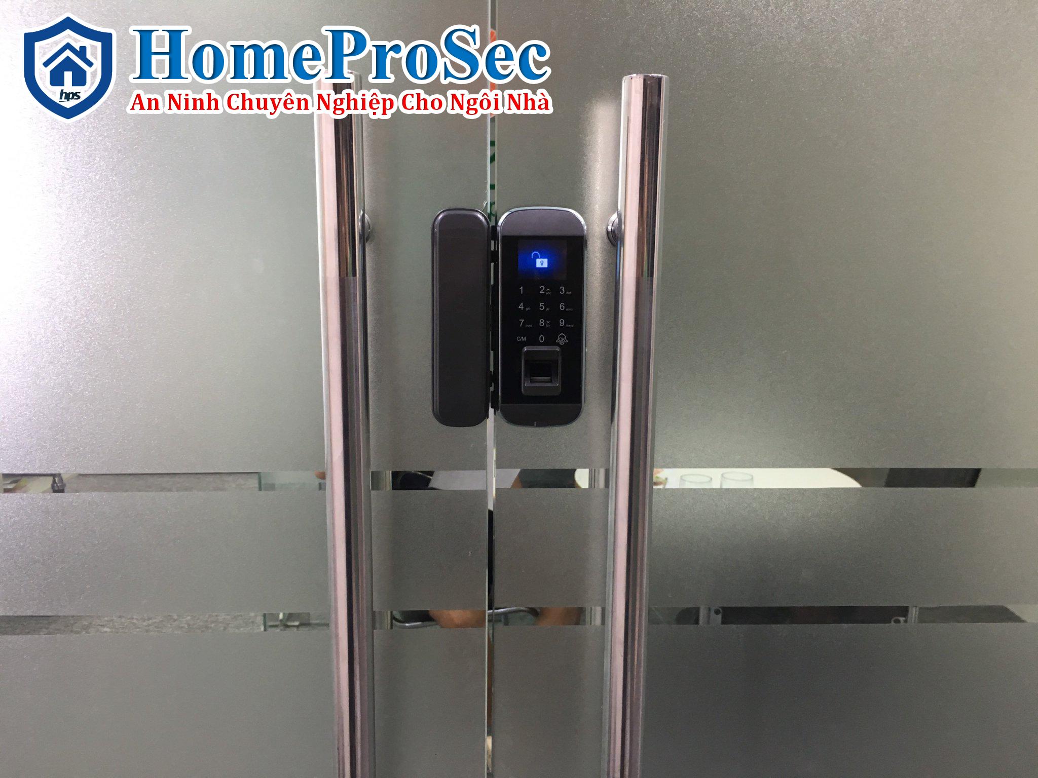 HPS- 8802 ( không remote )- Khóa vân tay cửa kính HomeProSec HPS- 8802 ( không remote )